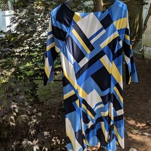 Ralph Lauren 3/4 sleeve knee length flared dress